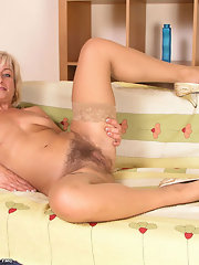 Blonde extremely hairy pussy